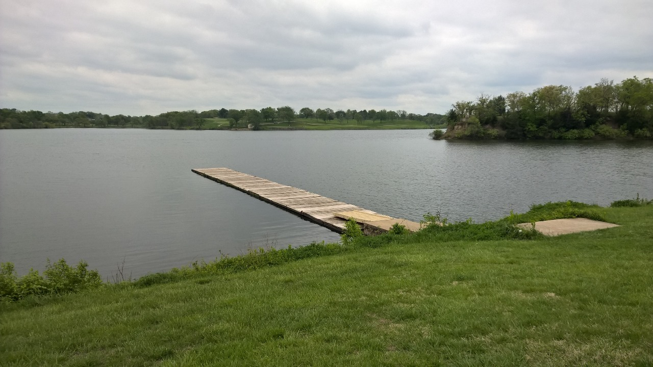 pier going into lake