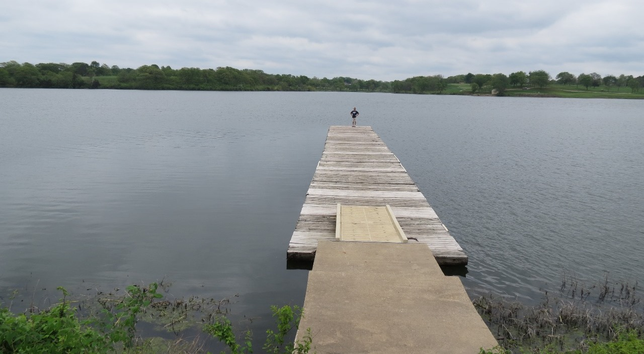 Pier heading out into the large lake
