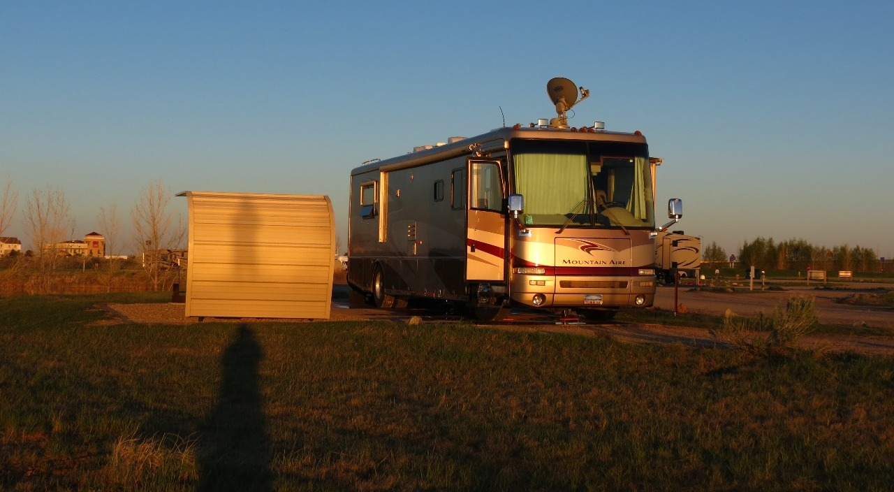 Our site...and golden RV