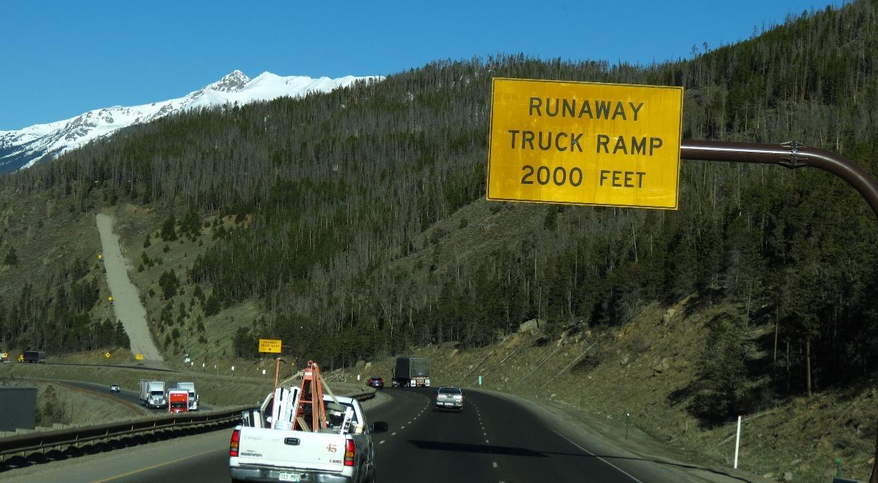 Another runnaway ramp...eeeek!