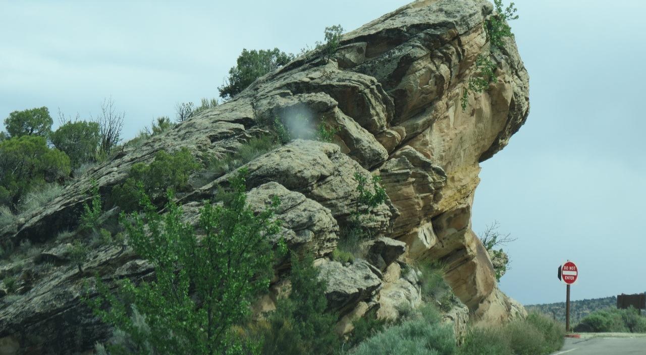 Tilted rocks