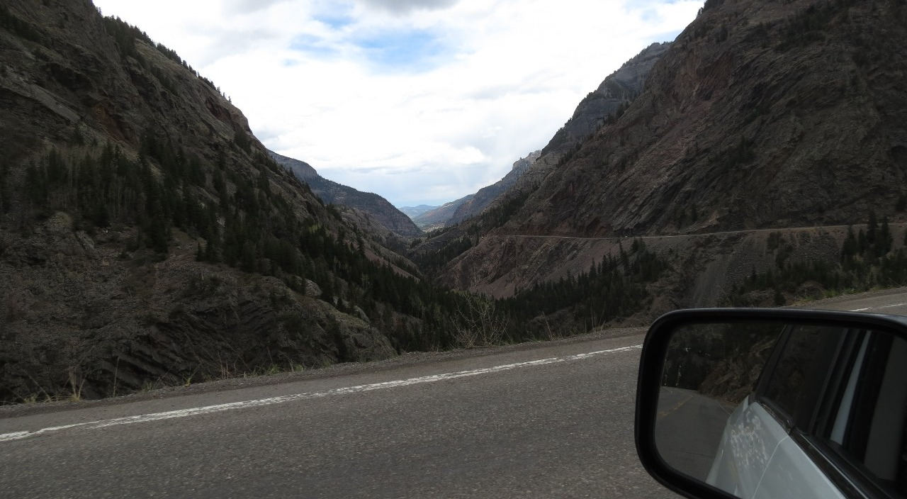 Road down the canyon...about 8,000 ft