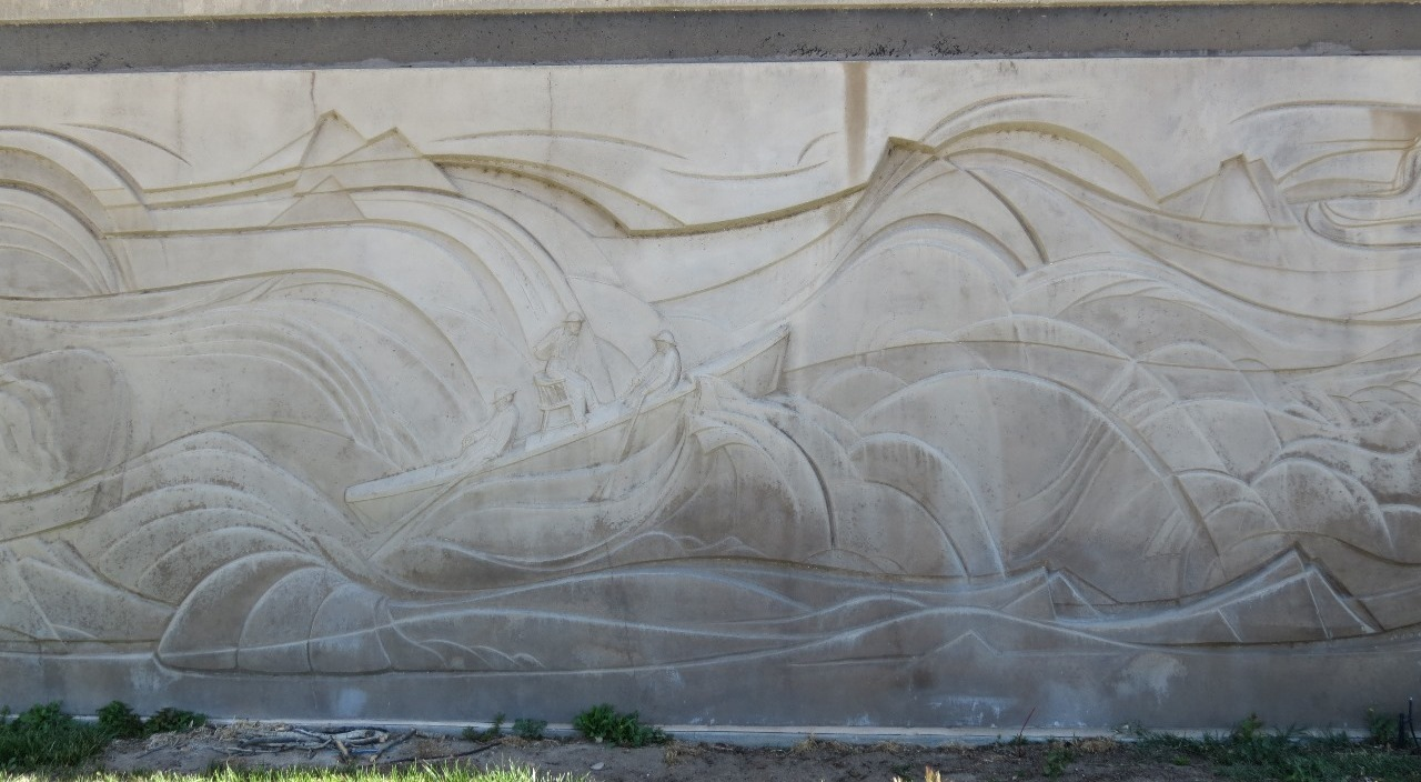 Outside engraving showing lots of motion