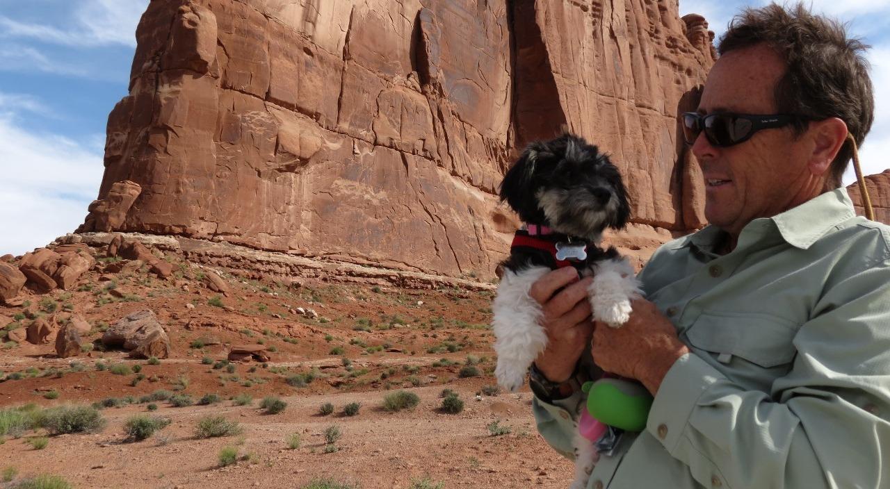 Katie likes the rocks