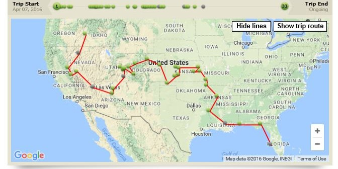 Current 2016 trip out west