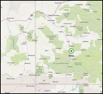 Map showing where Ouray is located in Colorado