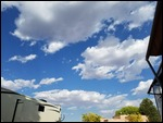 ...behind a blue sky