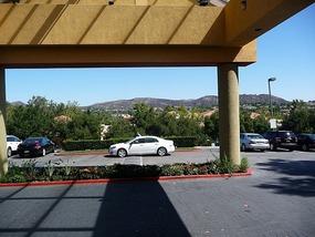 Uitzicht uit het hotel in Agoura Hills