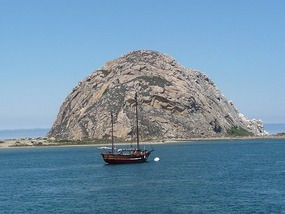 Morro Rock in Morro Bay
