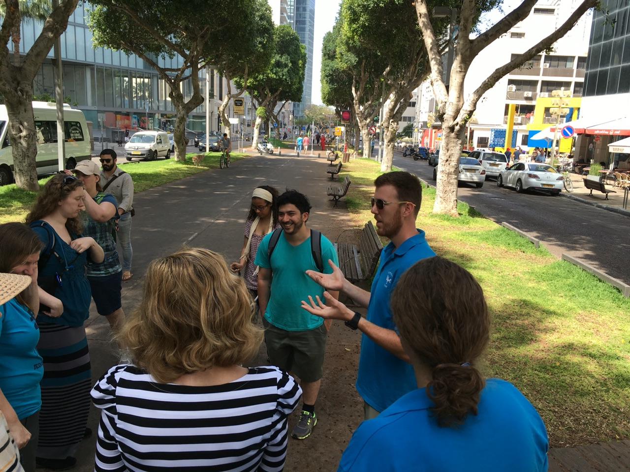 Steven's tour of Tel Aviv. Rothschild Boulevard.