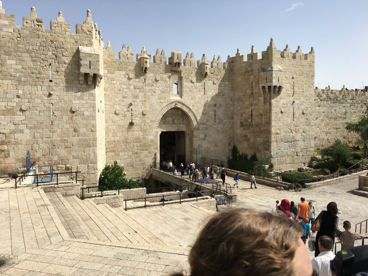 The Damascus Gate leading into the Muslim quarter