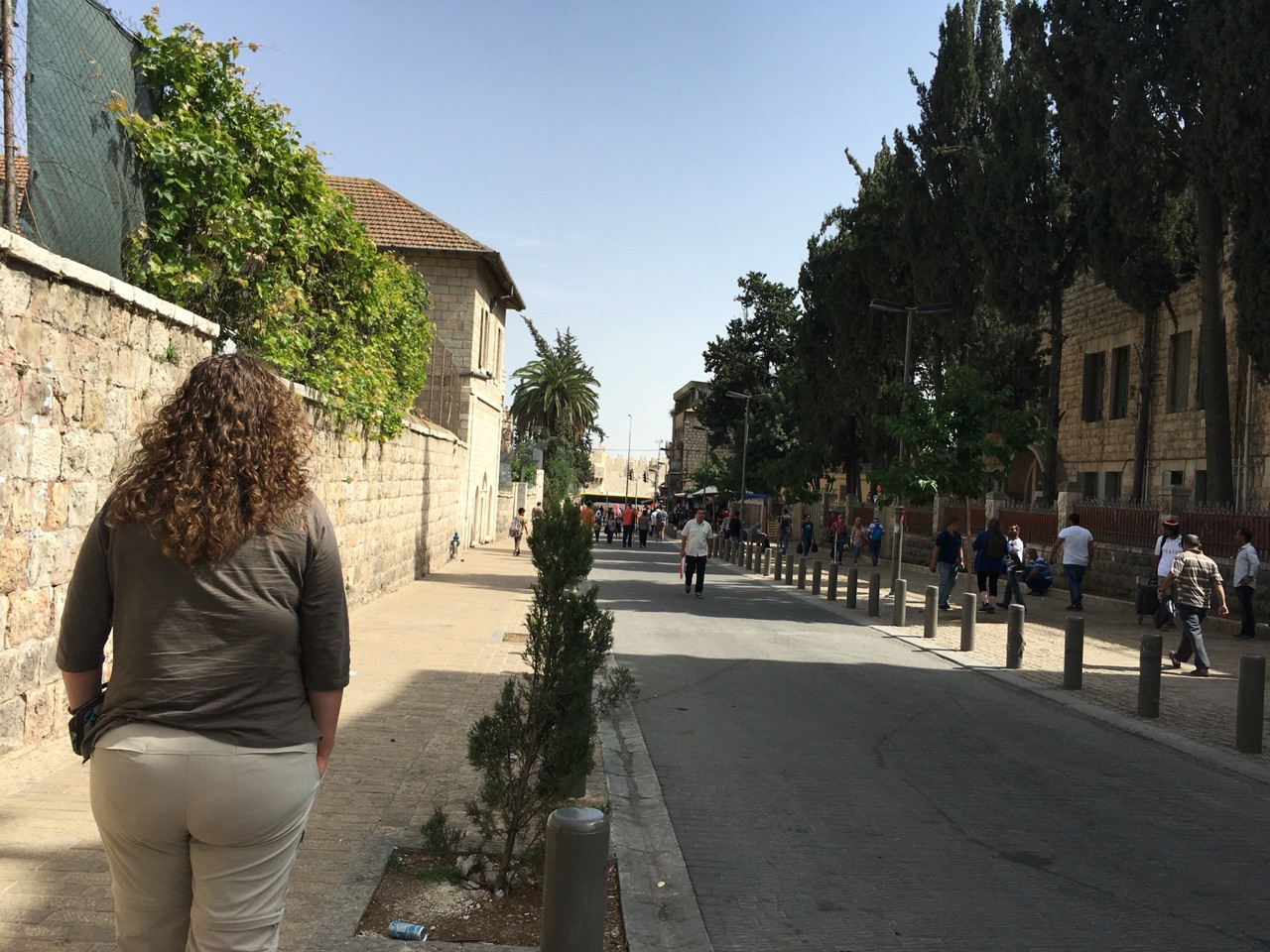 Walking toward the Damascus Gate