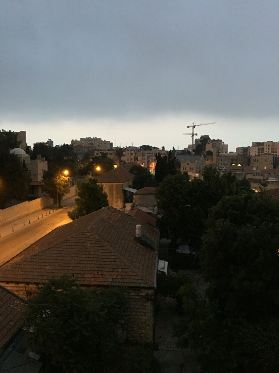 West Jerusalem facing east early in the morning