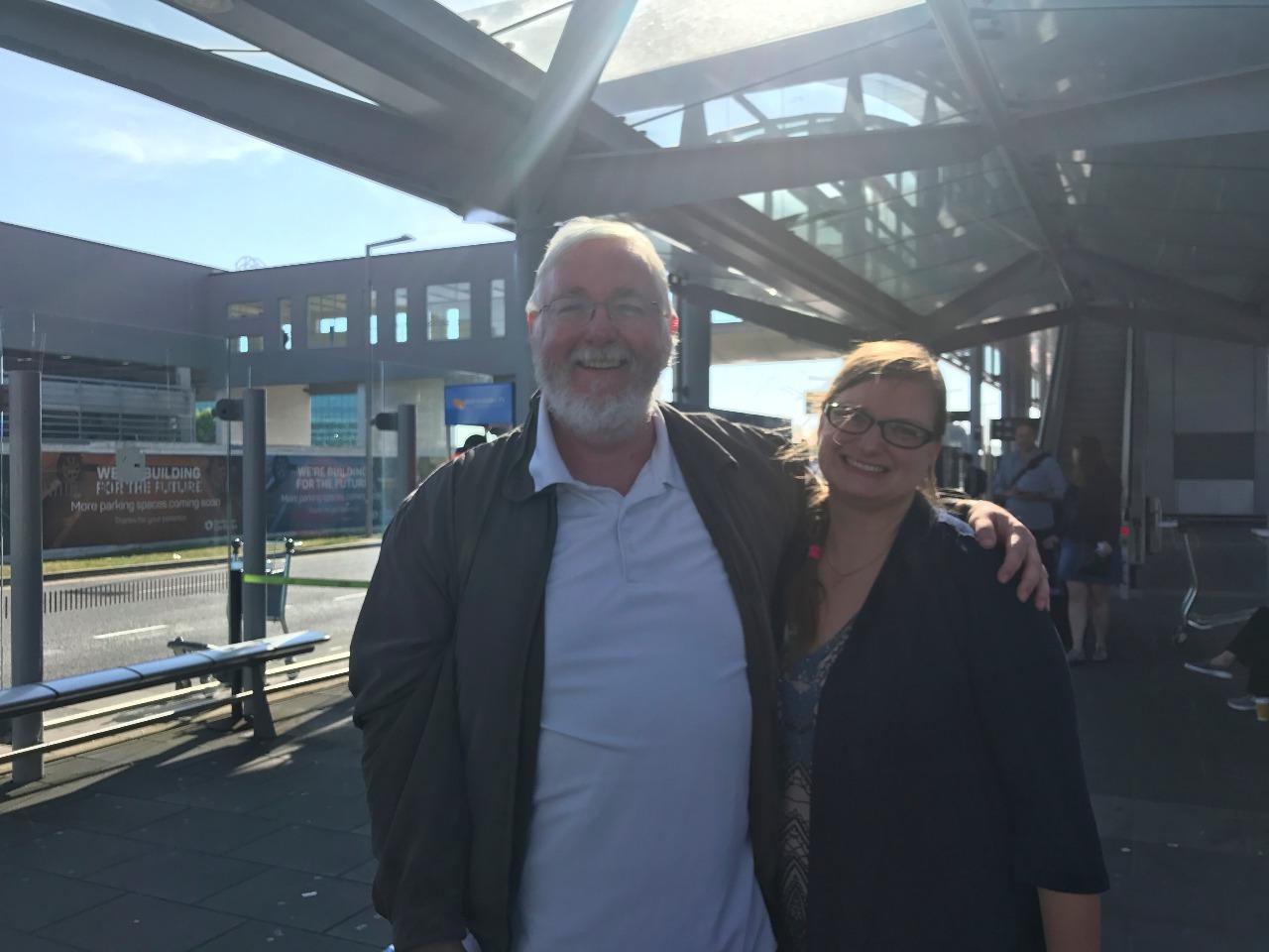 Luke met us in Dublin at the airport