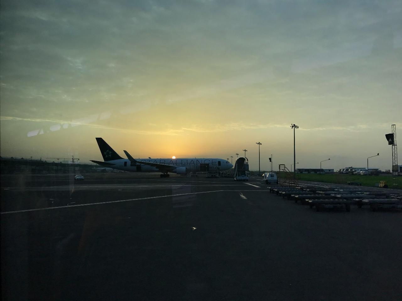 Arriving in Ethiopia at sunrise