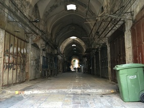 Early morning empty market streets in the Old City