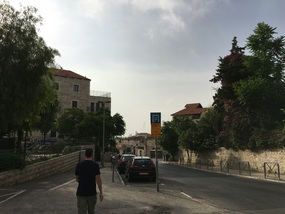 Walking toward the Old City