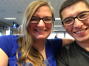 Lena and I in the Huntsville, AL airport.