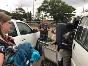 Arrival at the airport in Lilongwe