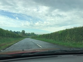 Hedge lined highways in England