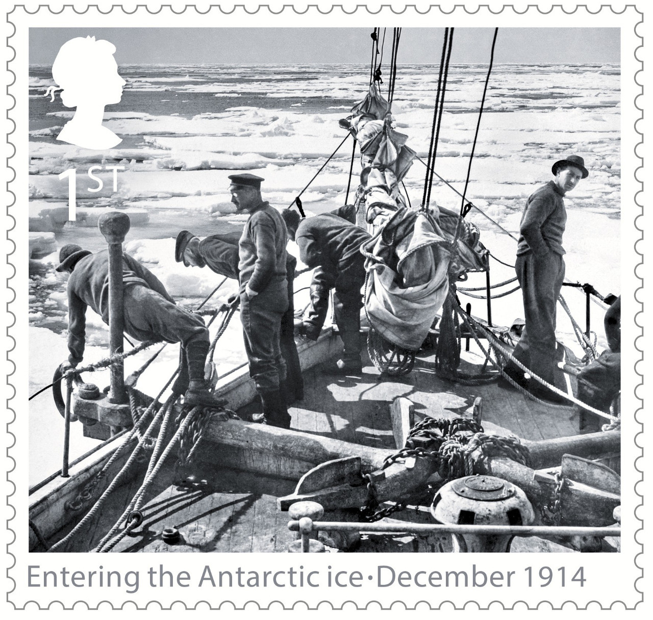 COMMEMORATIVE STAMP OF THE ENDURANCE LAUNCH