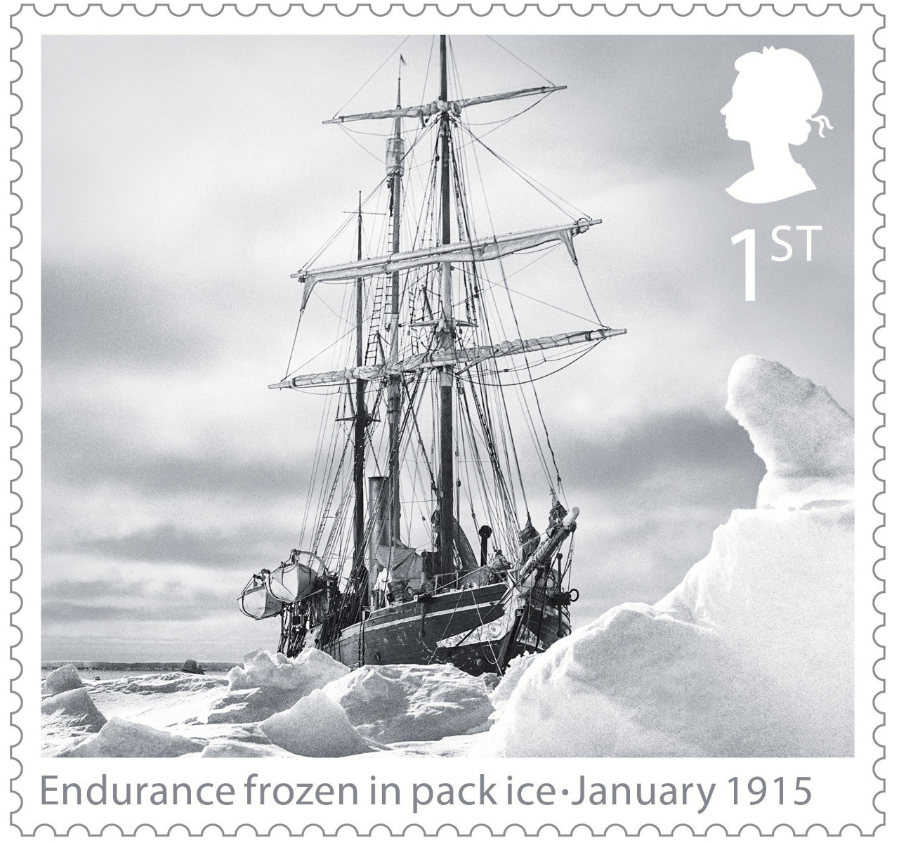 ENDURANCE COMMEMORATIVE STAMP - BESET IN ICE