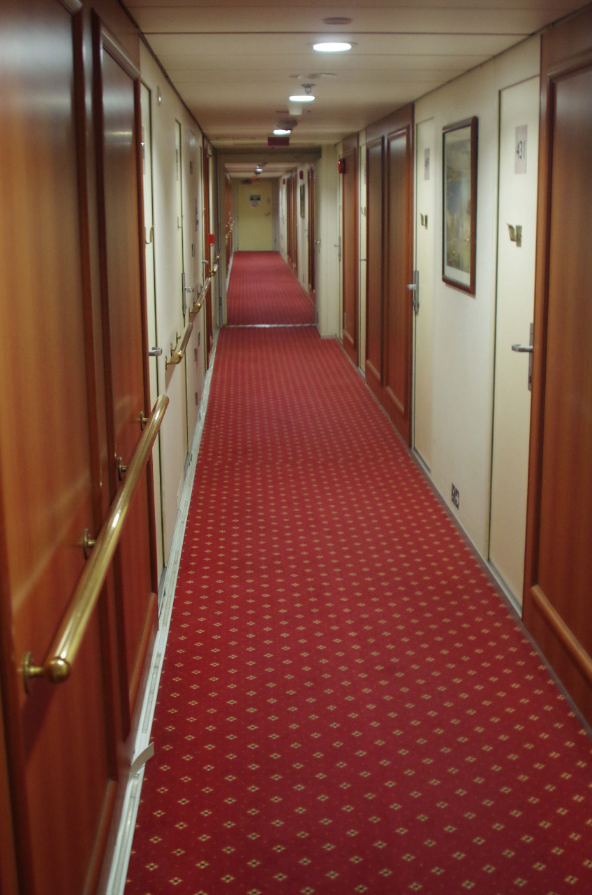 Try to walk in a straight line down this hallway!