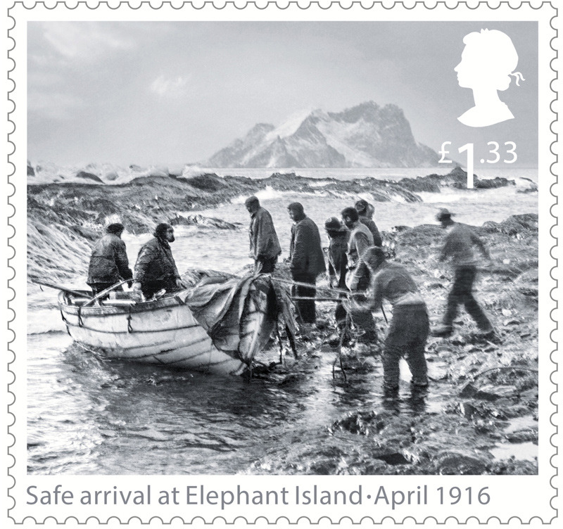 Commemorative Stamp of Arrival at Elephant Is...