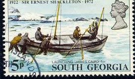 Commemorative Stamp of the James Caird Launch...