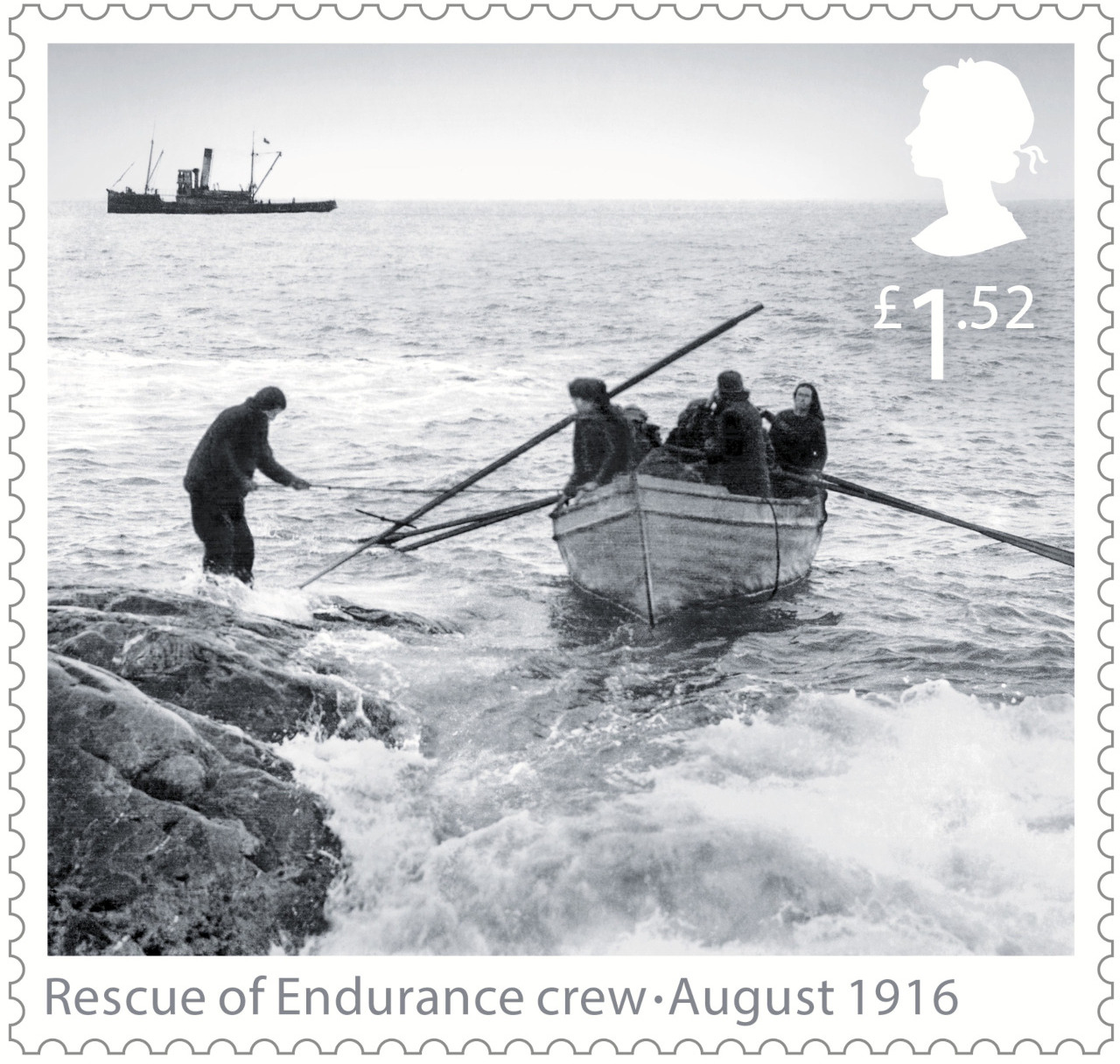 Commemorative Stamp for Elephant Island Rescue...