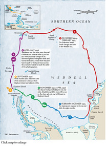 Shackleton's FINAL ROUTE