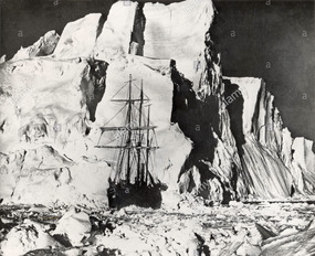 ENDURANCE Dwarfed by monstrous ice structures...