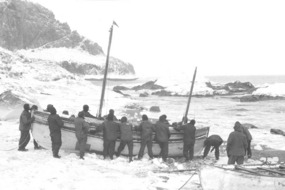 PREPARING TO LAUNCH THE JAMES CAIRD!