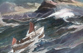 Shackleton in the James Caird to South Georgia!