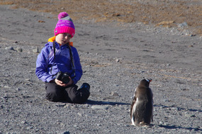 ERIN COMMUNING WITH A GENTOO