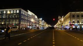 Nevsky Prospekt at night