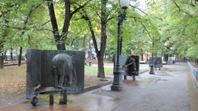 Whimsical sculptures at Patriarch Ponds