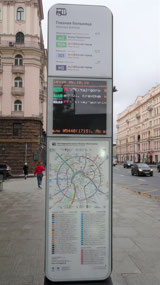 Transit information at bus stop