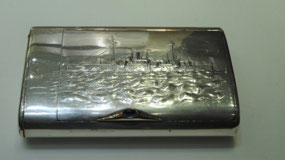 Cigarette case, Knights' Hall, Fabergé Museum