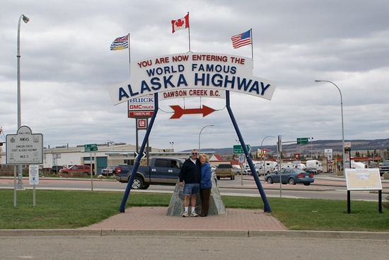 Mile Zero of Alaska Highway
