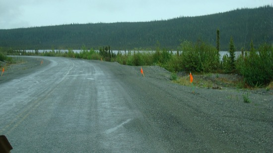 Permafrost heaves warning flags