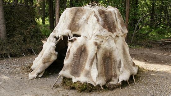 Athabascan Reindeer Skin Hut