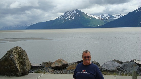 Turnagain Arm on drive to Cooper Landing