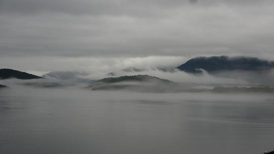 Ferry to Petersburg - lots of fog