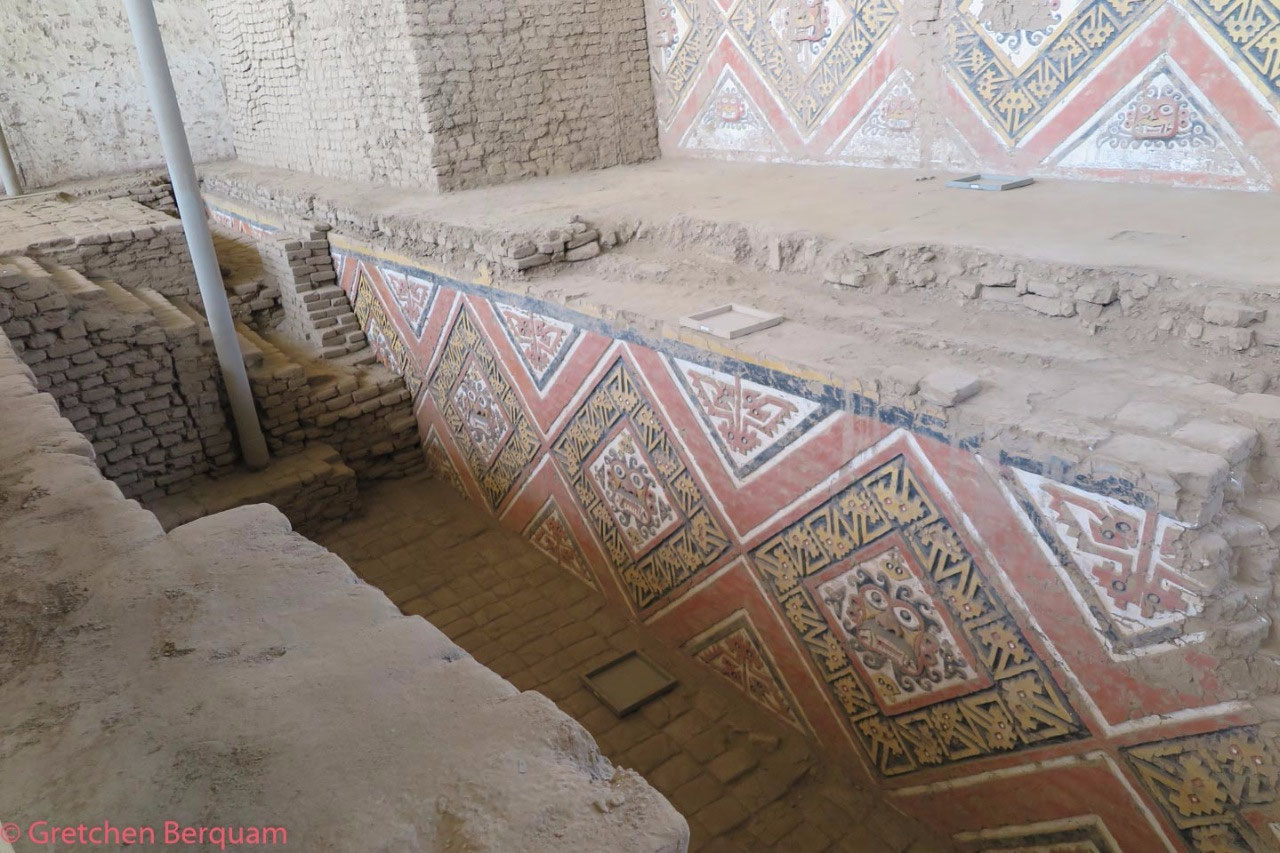 A decorated wall uncovered