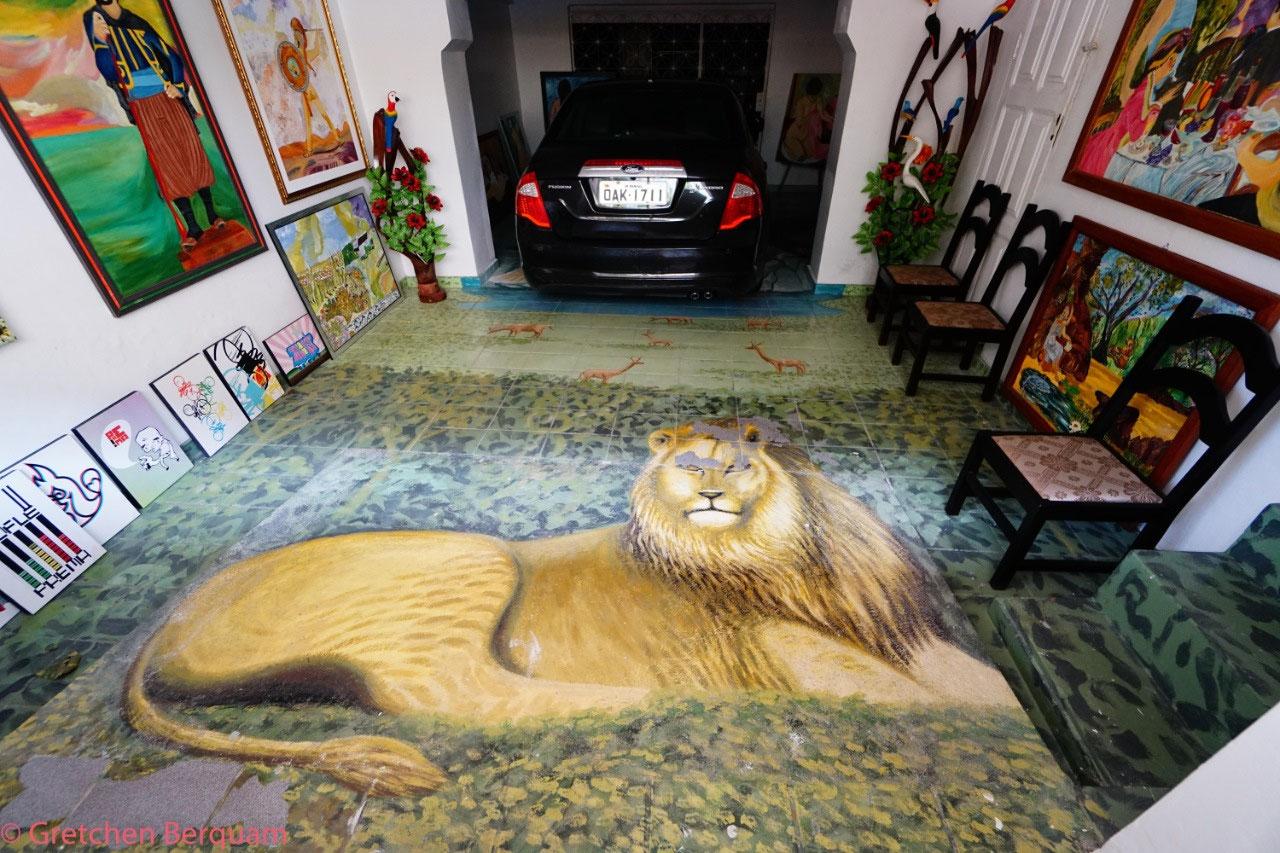 Local Artist's Garage Floor