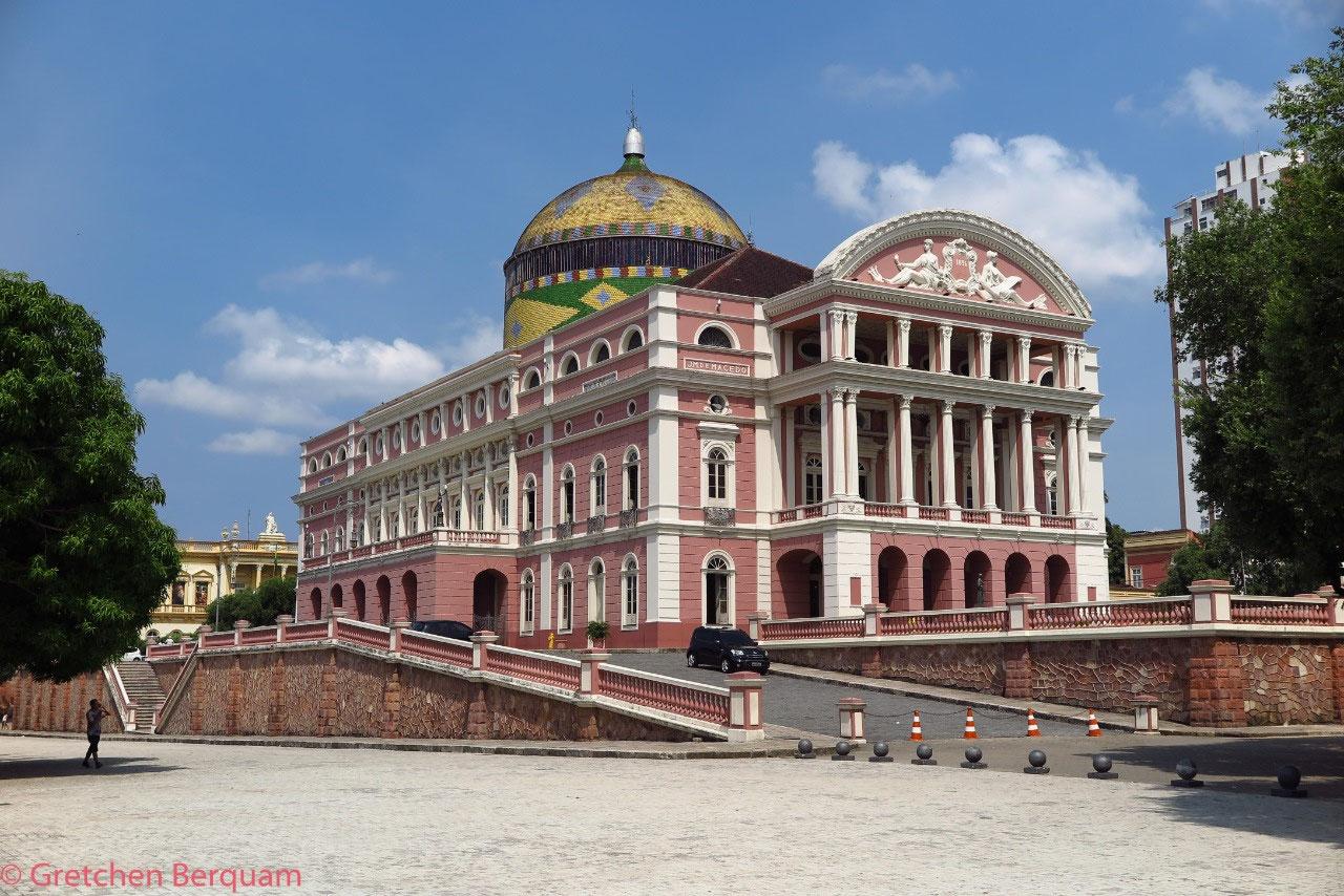 Manaus Opera Theater outside