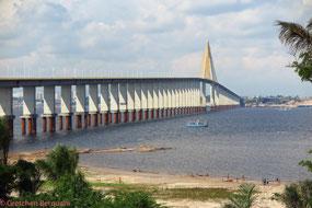 Bridge over the Rio Negro river