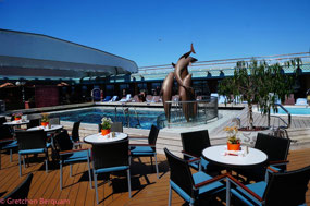 Top Deck at the pool