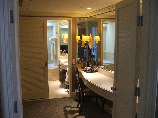 dressing room and bathroom